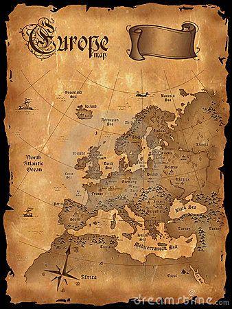 Vintage Europe Map Seekarte Karten Tattoos Weltkarte Tattoo