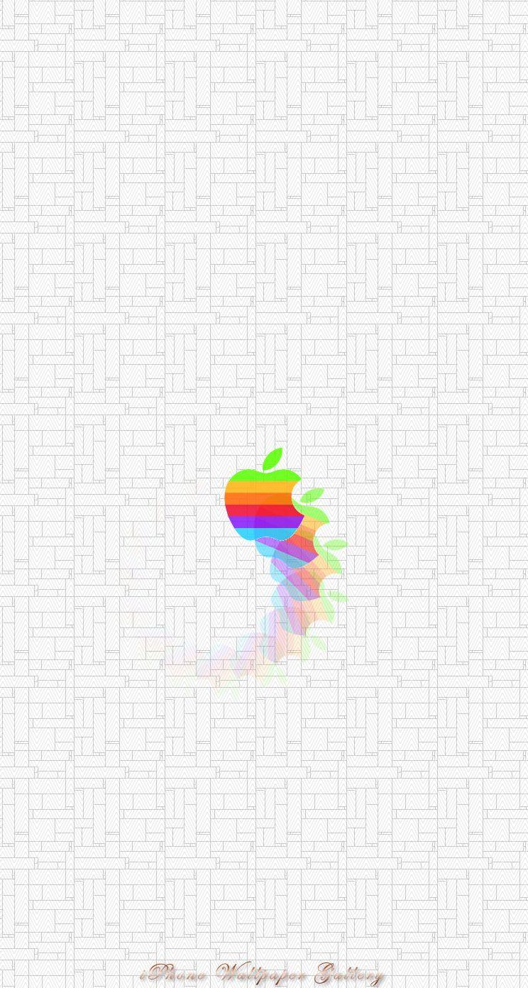 Iphone5 壁紙館 アート作品 カラフルなリンゴ Free Iphone