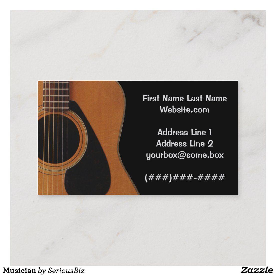 Musician Business Card Zazzle Com In 2021 Musician Business Card Music Business Cards Business Cards