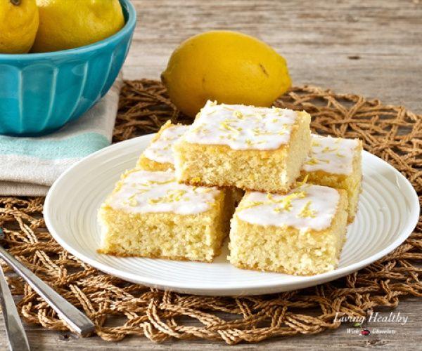 Lemon Brownies With Coconut Lemon Glaze • Paleo, low carb, gluten-free, grain-free, dairy-free, refined sugar-free
