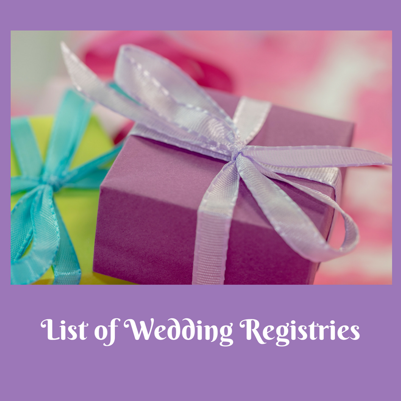 List Of Wedding Registries