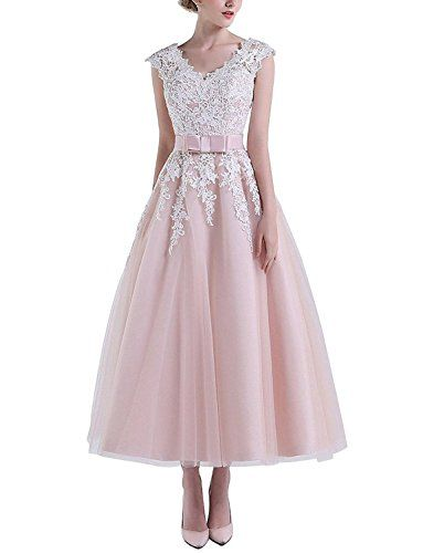 4bd1ee8b38e Abaowedding Women s V-Neck Lace Short Wedding Dresses Bri... https