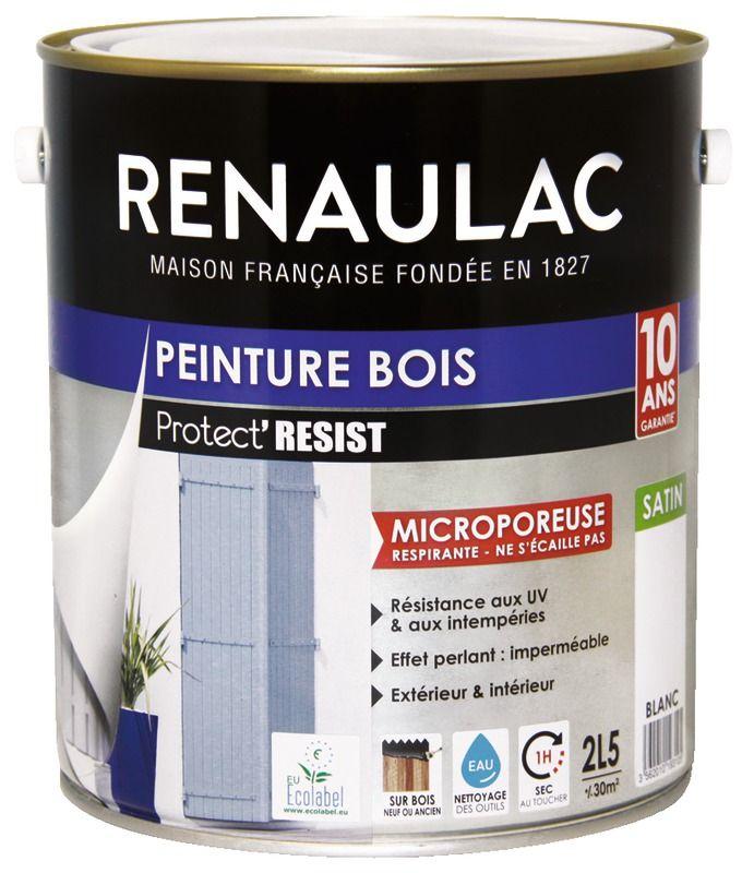 Peinture Bois Anti Uv Microporeuse Renaulac Opacite Durabilite Peinture Sur Bois 30m2 Pots
