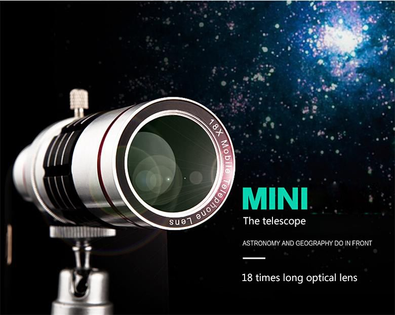 Xfsky vision shot 18x zoom external cell phone camera lens mini