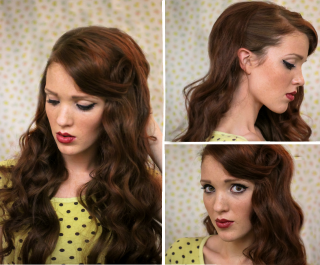 The Freckled Fox Sweetheart Hair Week Tutorial Classic - Classic hairstyle tutorials