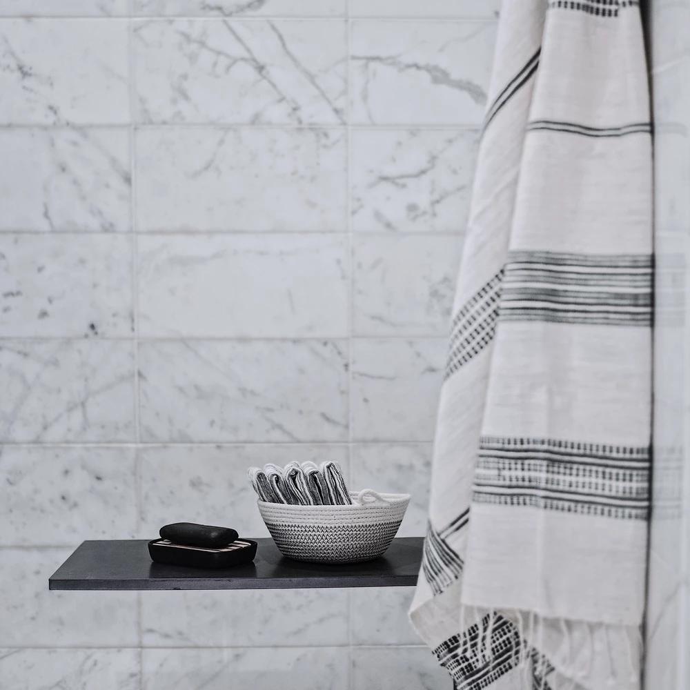 Tana Ethiopian Towel Grey Bathroom Decor Gray Towels