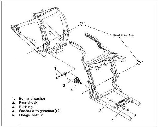 harley swingarm diagram