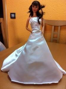 Como hacer vestido novia barbie