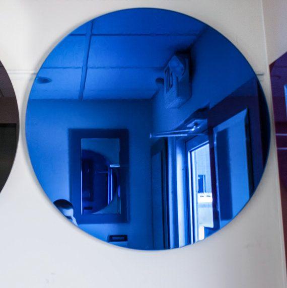 Wall Mirror. Round Golden Antiqued mirror. 27