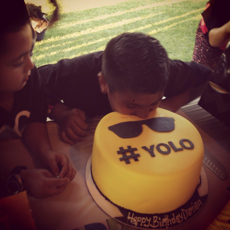 Birthday cake. hashtag party. Nephew #HappyBirthdayDamian ...