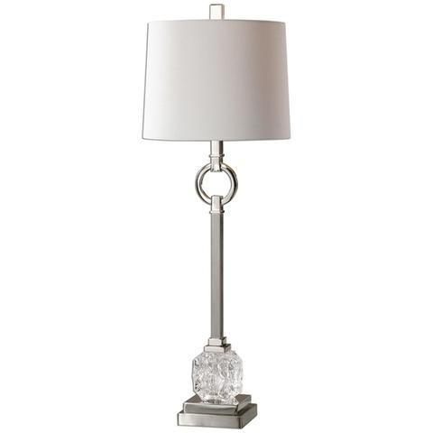 Uttermost bordolano polished nickel table lamp