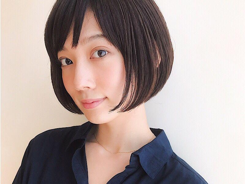 丸顔 面長 イメチェンが叶う 美容師おすすめ ショートヘアスタイル