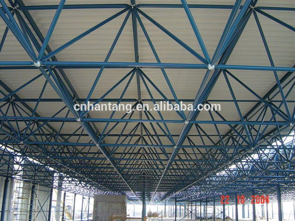 Industrial work shop steel space frame building Romania | alibaba ...