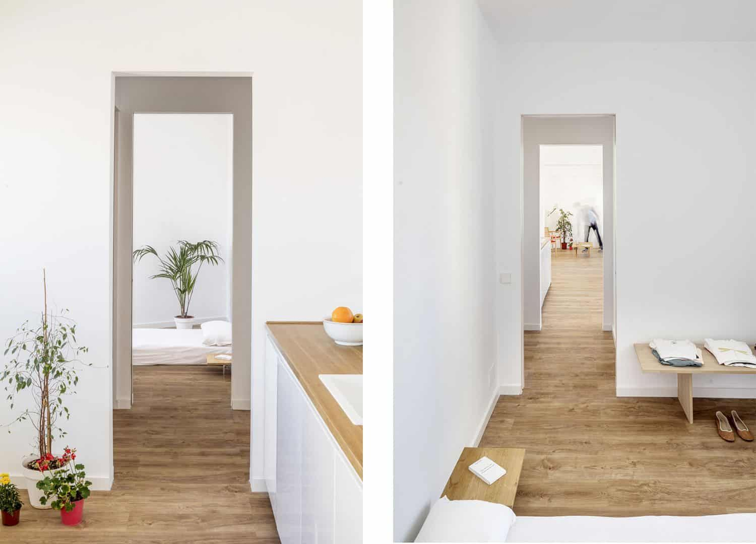 Montjuic Apartment An Apartment Renovation With A New Domestic Atmosphere And Frame Like Partitions Apartment Renovation Apartment Renovations