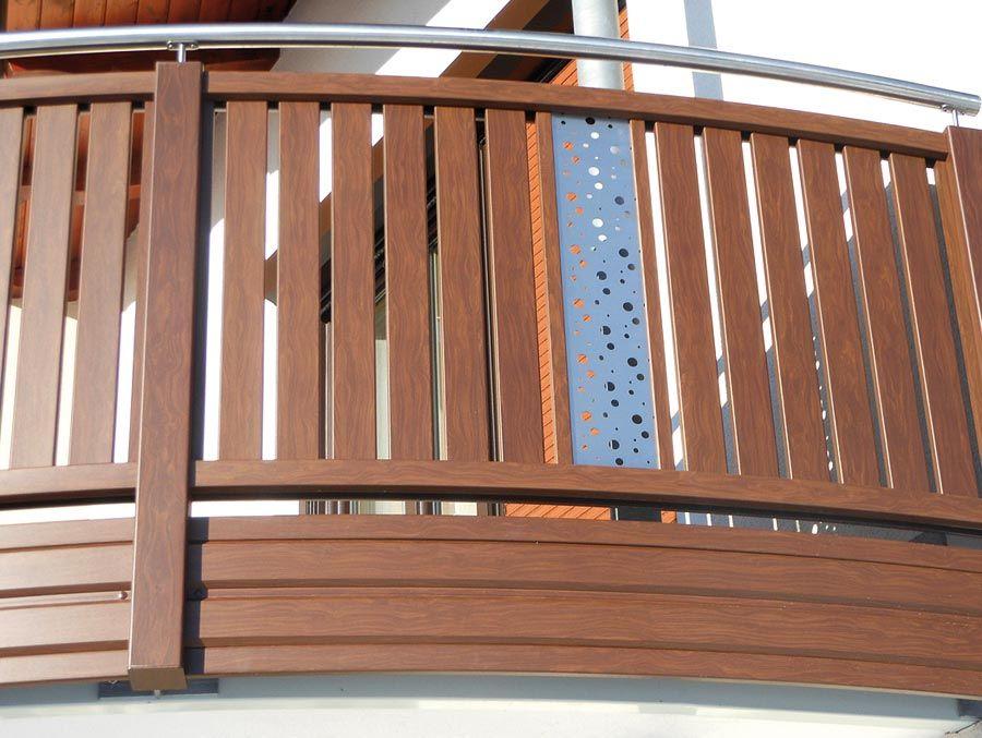 Balkon Gelander In Edelstahl Alu Balkon Gelander Design Balkon Balkongelander Metall
