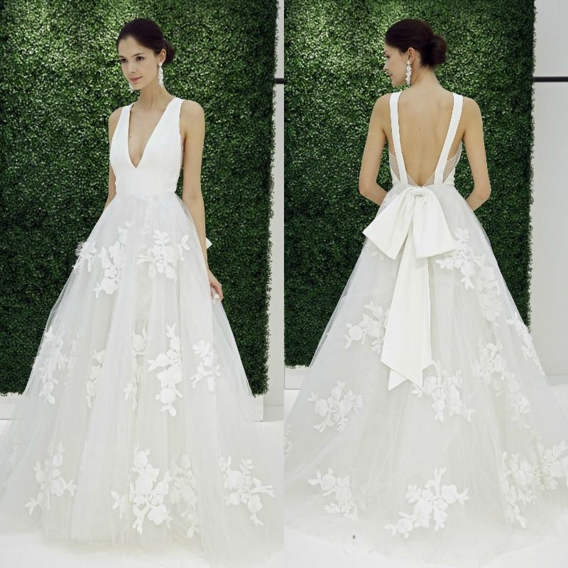 Tendencias 2017: Vestidos de novia de volantes vs. lazos | Volantes ...