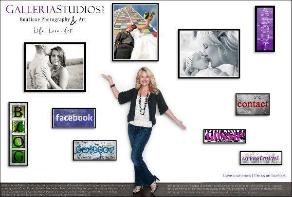website splash page #weddings #portraits #galleriastudios #dawnfisher #carmel #webdesign #showit