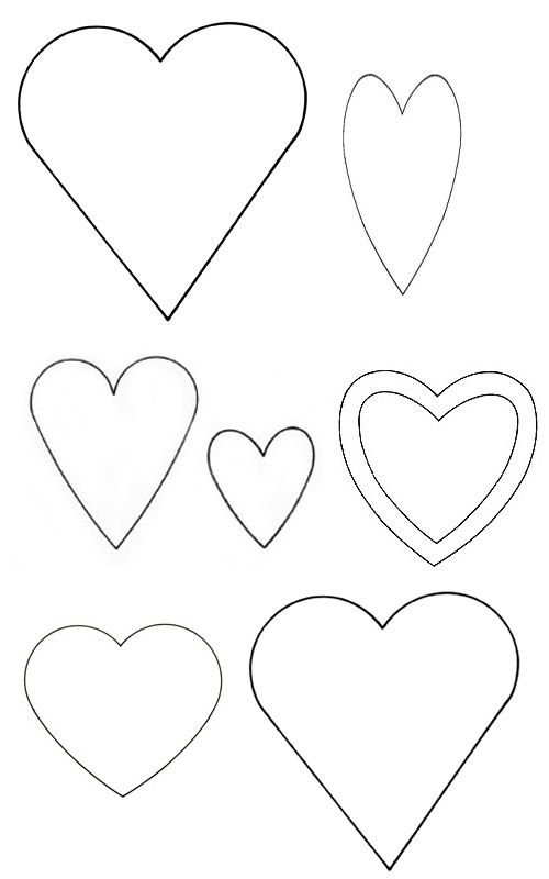 Heart templates   disegni   Pinterest   Schablone, Deko herzen und ...