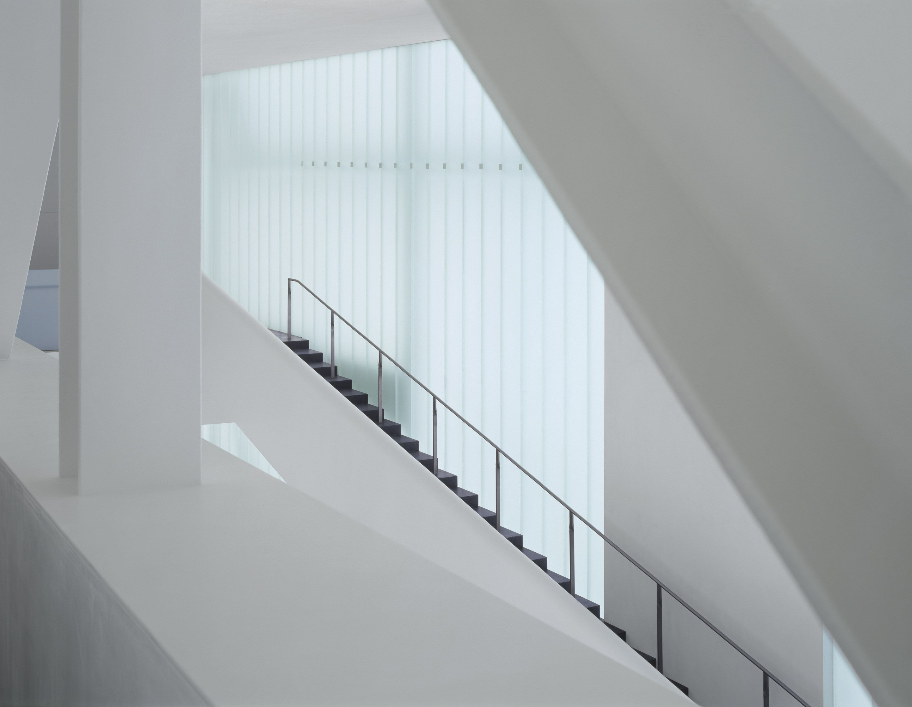 The White Interior Of The Nelson Atkins Museum In Cansas City Is Flooded  With Light Reflected