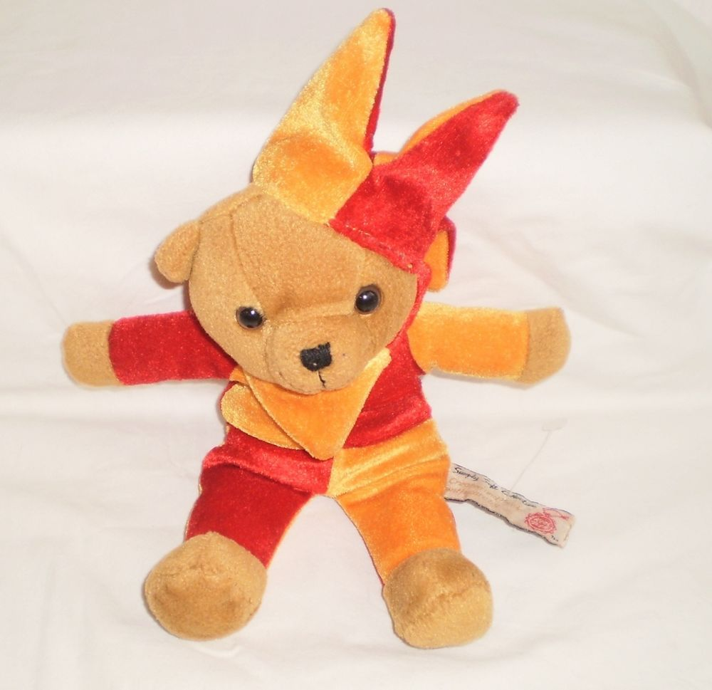 Details about Simply Soft Collection Keel Toys Harlequin Teddy Bear ... d14fdc963b84