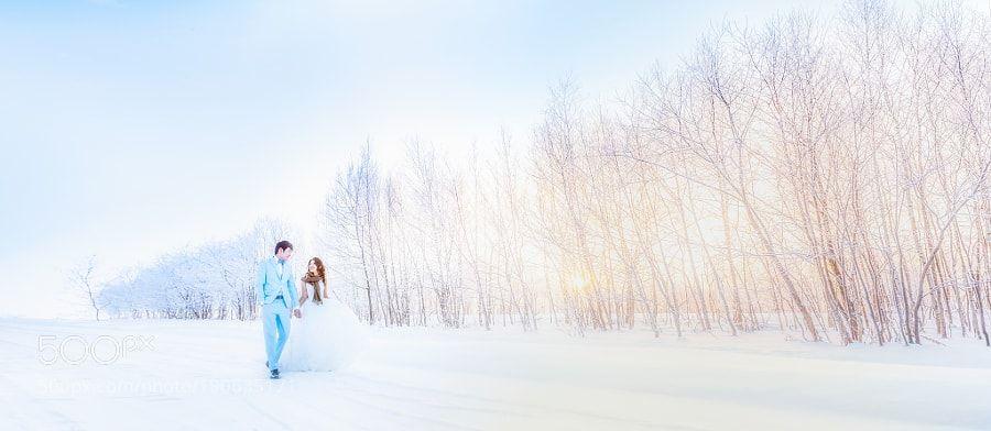 Hokkaido wedding by pob731125