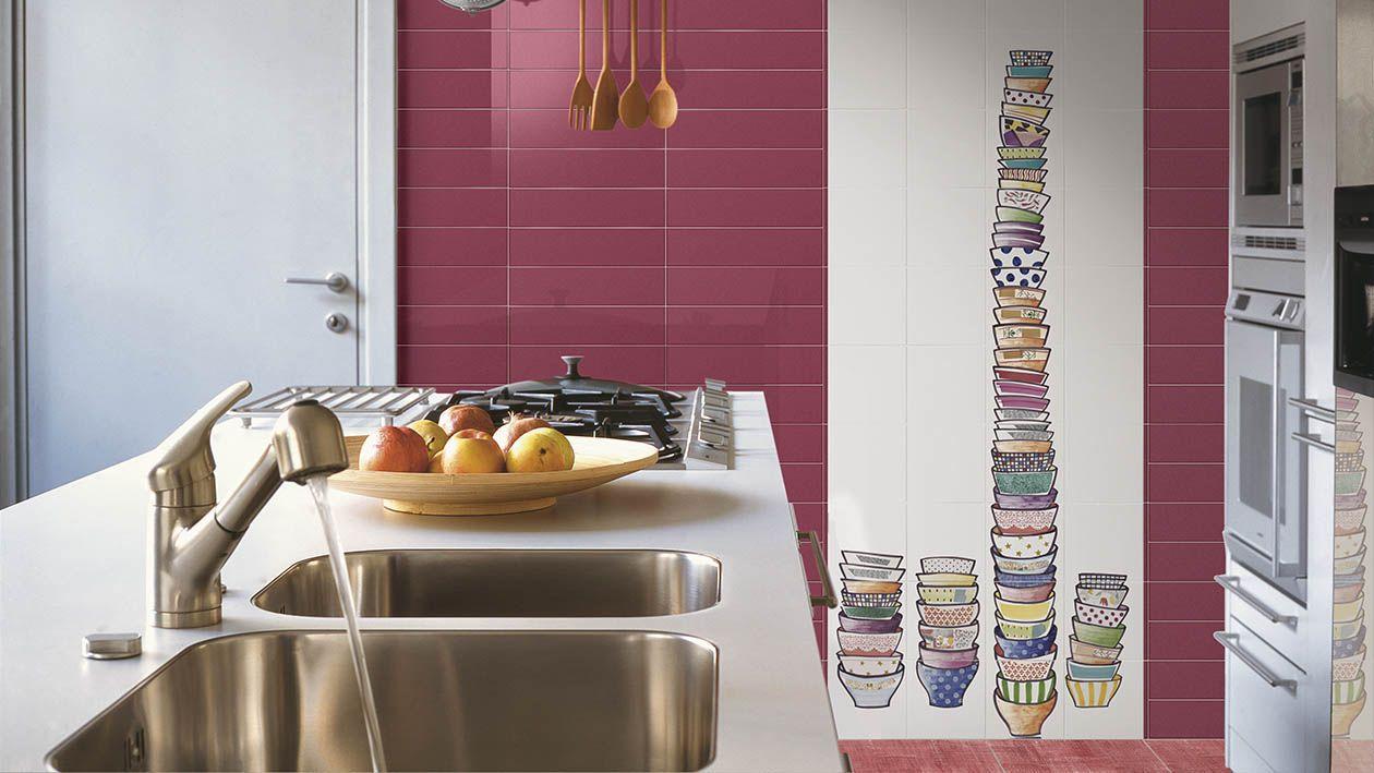 Piastrelle in ceramica dipinta a mano rivestimento bagno cucina