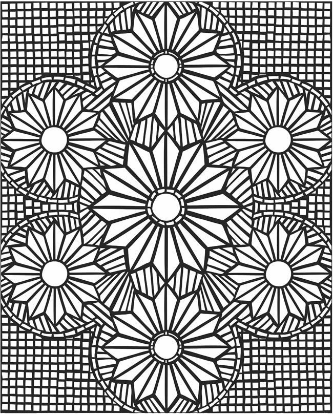 mosaic coloring pages mosaic patterns coloring pages kids - Colouring In Patterns