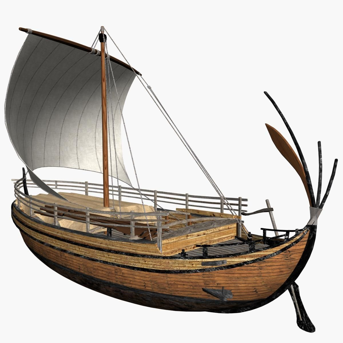 3d model of ancient greek freight ship hull merry creation
