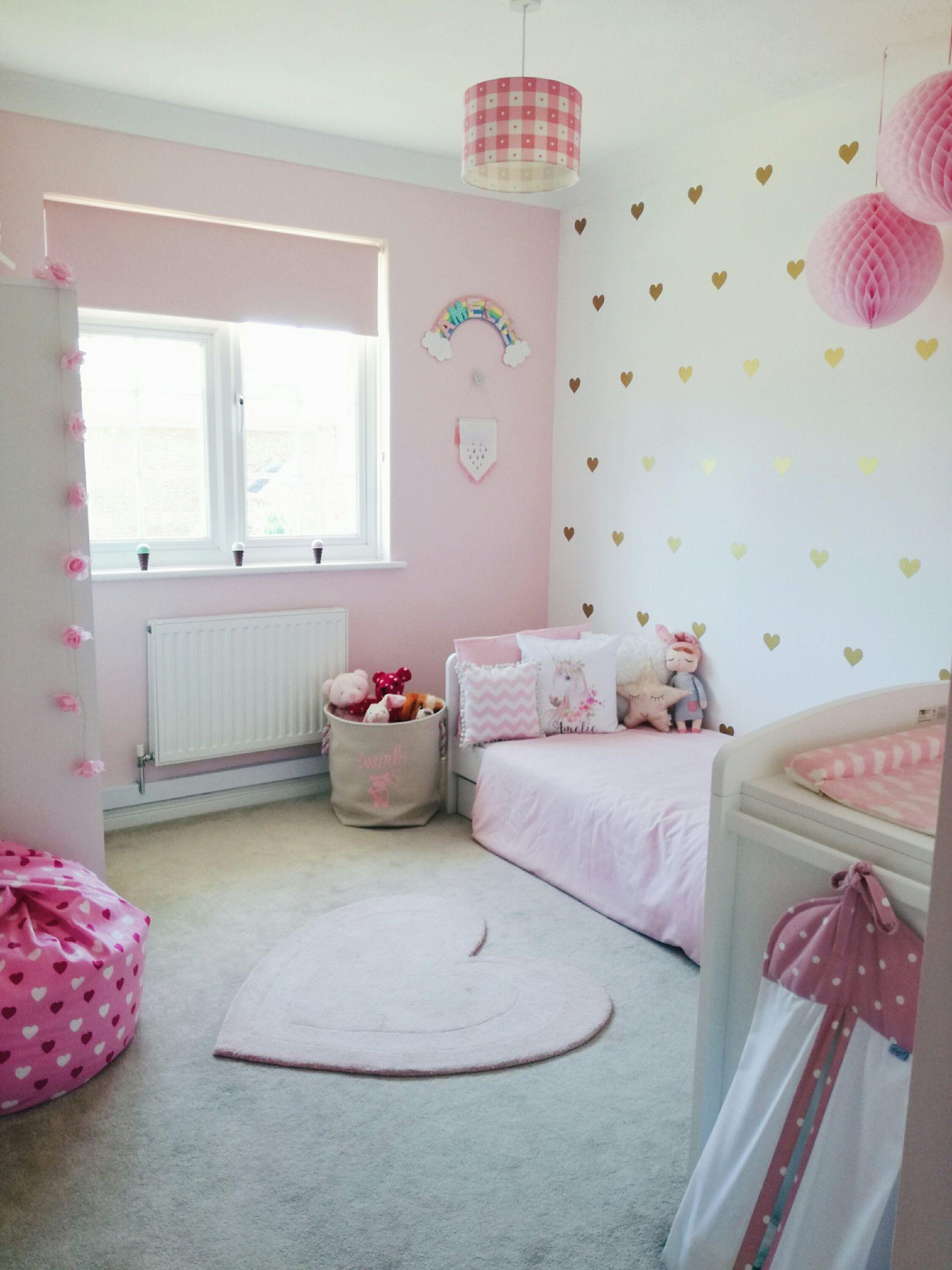 Amelie's Soft Pink and Gold Toddler Bedroom images