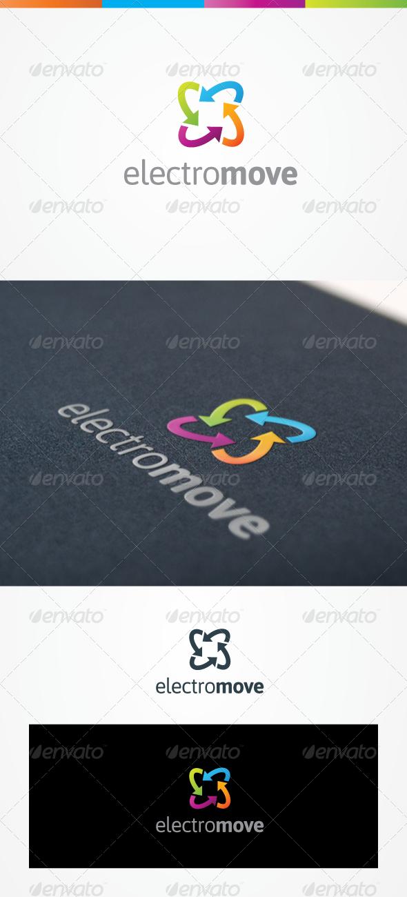 Electro Move Logo design template, Creative logo, Logo