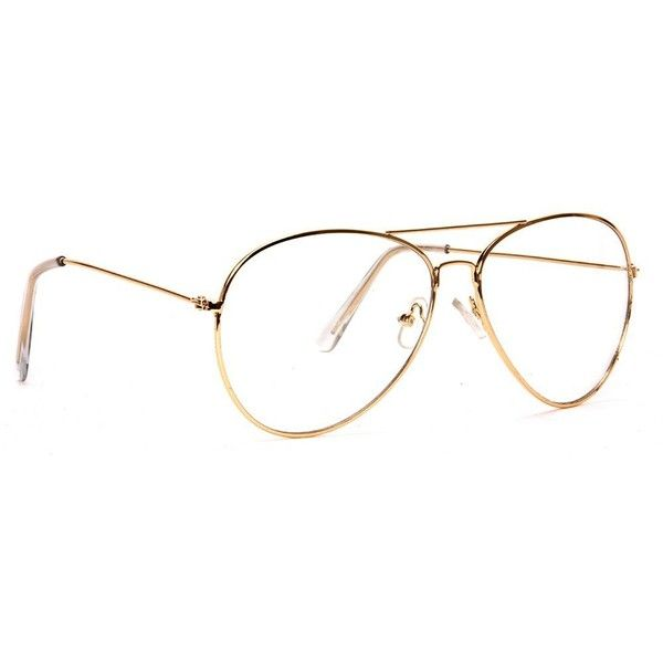 Amazon.com: New Non-Prescription Premium Aviator Clear Lens Glasses ...