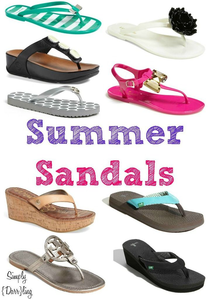 Super Summer Sandals - I love wearing sandals all day during the summer. This list has some adorable ones and also ones that look super comfortable.