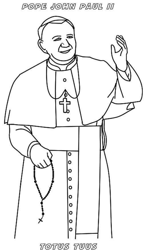 saint maxamillion kolbe coloring pages | JPII craft | Pope John Paul II | Pinterest | Catholic ...