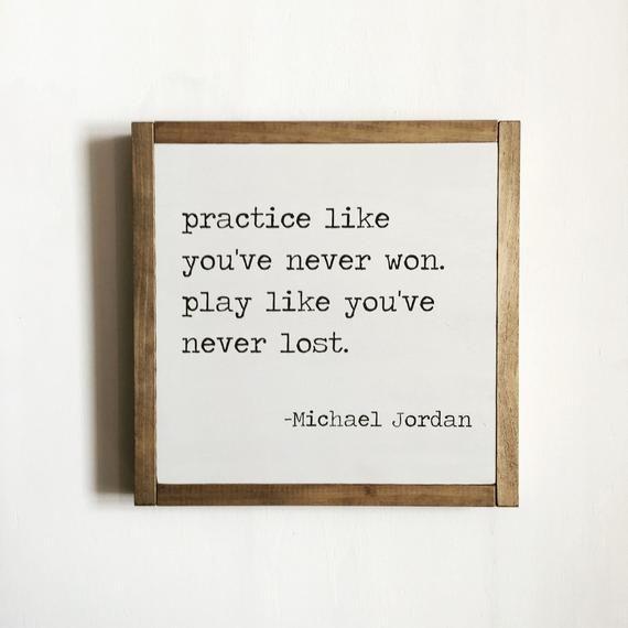 Sport quote, sports decor, Michael Jordan quote, kids decor, basketball decor, motivational quote