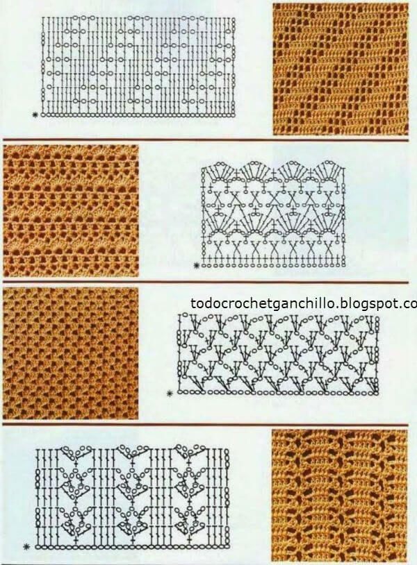 25 Puntos calados para tejer al crochet - patrones gratis | Todo ...