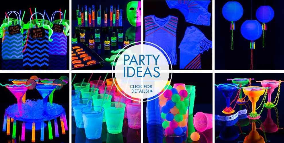 Blacklight Theme Party Black Light Party Supplies Blacklight