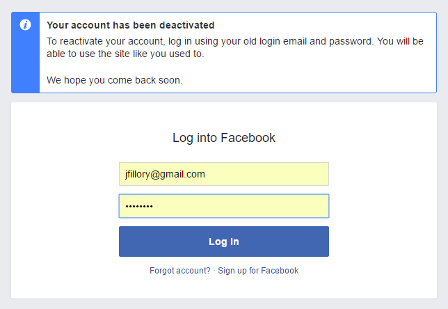 How To Reactive Deleted Facebook Account In 2020 Accounting Facebook Knowledge