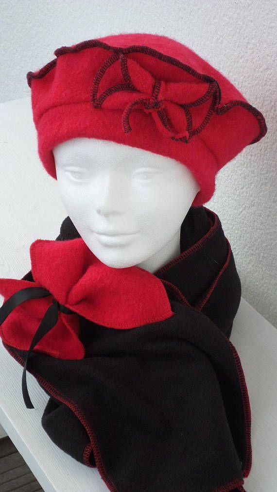 1f25e6724c53 Bonnet chapeau béret rouge femme laine confortable unique hiver et ...