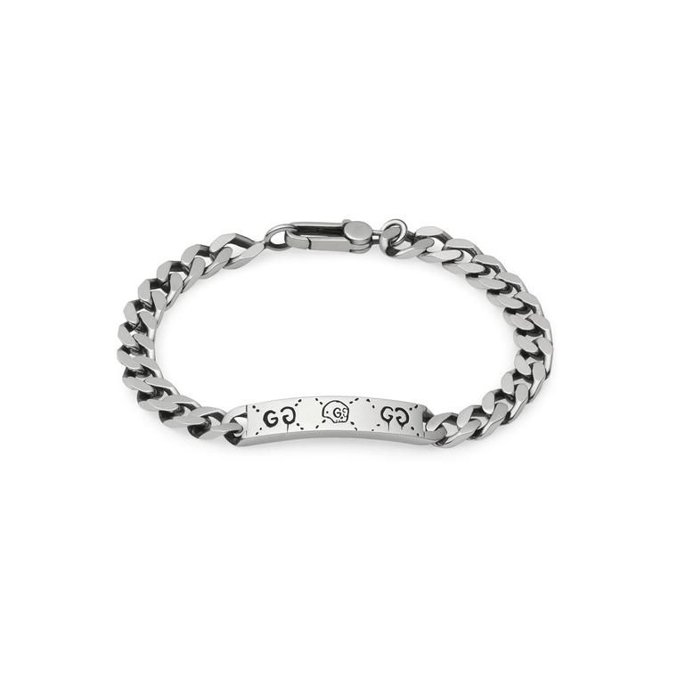 The Gucci Guccighost Sterling Silver Chain Bracelet For Men Discover Newest Range Of