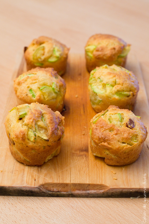 Muffins courgettes et chorizo