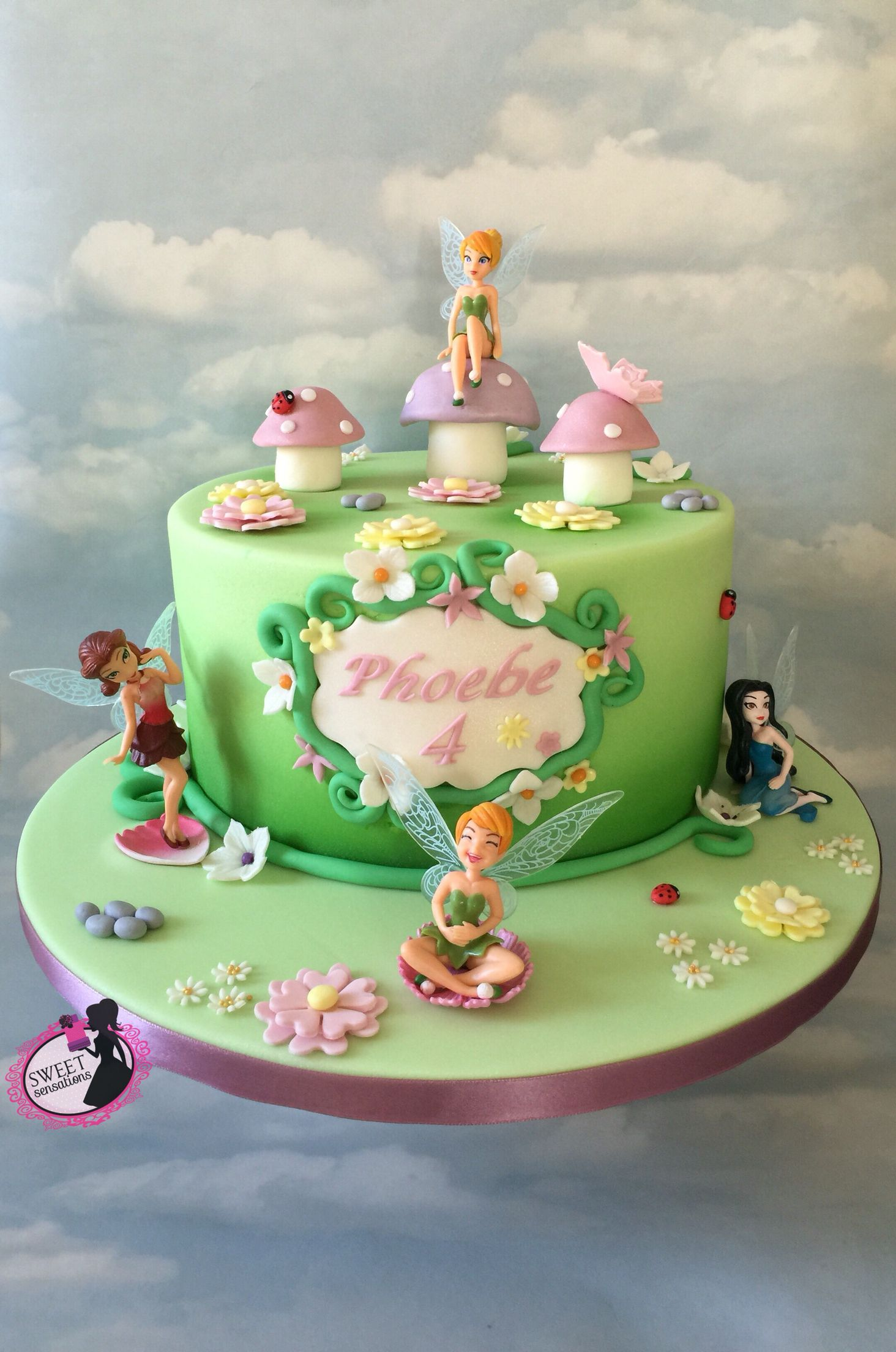 Cake Designs Tinkerbell : Tinkerbell cake cake ideas Pinterest Tinkerbell ...