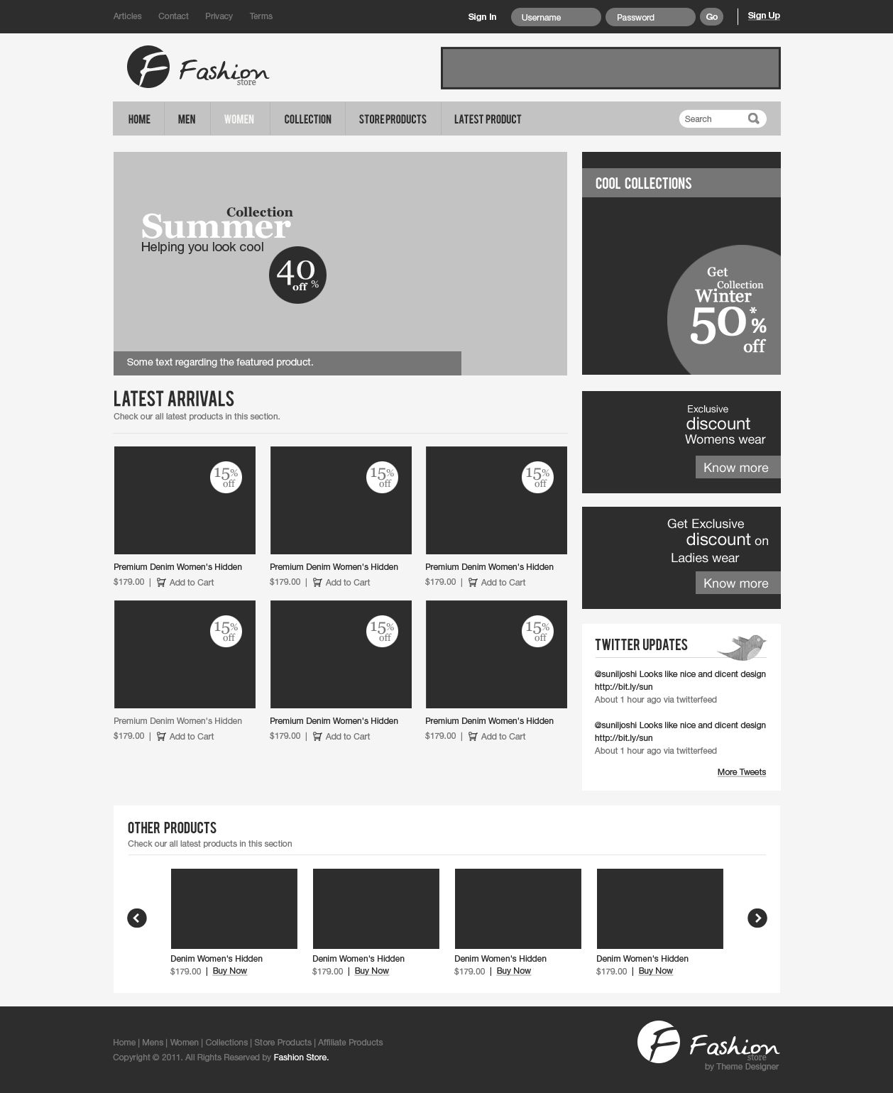A fashion website - Wireframe Of A Fashion Store Website