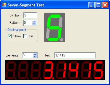 Seven-segment LED Control for  NET - CodeProject | C# controls | Net