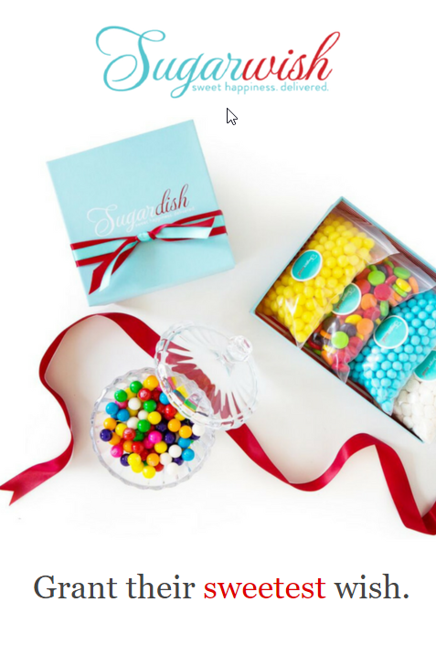 Sending A Sugarwish Is The Perfect Last Minute Gift It S Ecard With Candy Inside Starting At Just 1850 As Seen On Today Show