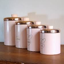 vintage canisters for kitchen pastel pink colors extravagant and functional