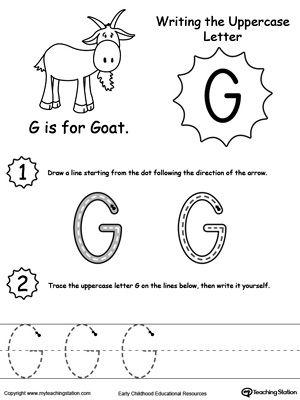 Writing Uppercase Letter G Letter G Letter Activities Preschool Uppercase Letters