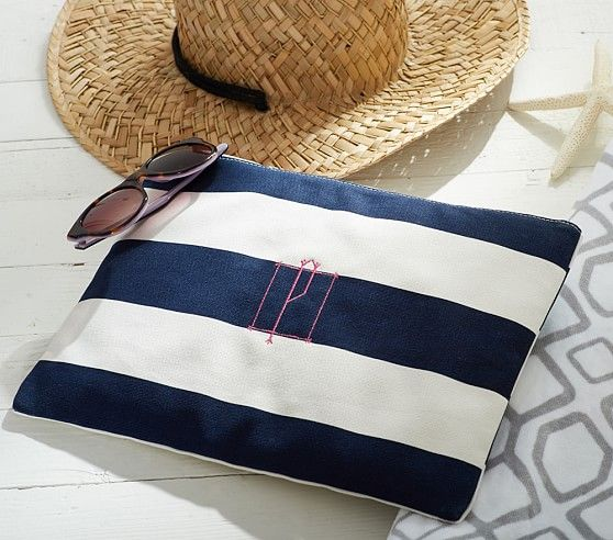 Navy Rugby Stripe Wet Dry Bag Bags Wet Dry Pottery