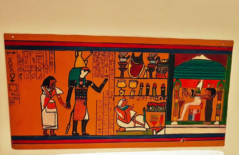 Meine Ägyptische Zeichnung auf Holz