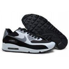 bon ajustement edd7a a6a50 Baskets Nike Air Max 90 Hyperfuse Premium Noir Blanc Gris ...