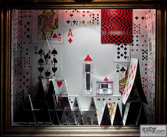 The House of playing cards at Bergdorf Goodman August 2011